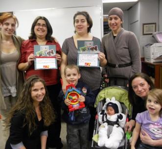 Action cartes postales par les familles