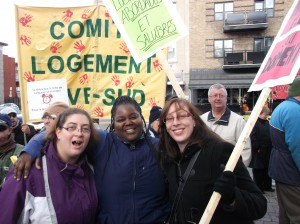 Manifestation pour le droit au logement