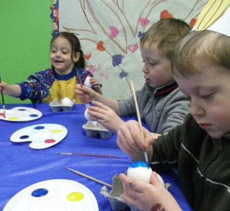 peinture avec les enfants